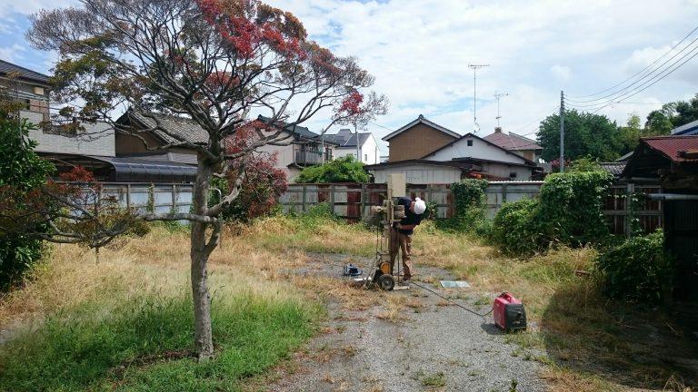 佐野市大祝町K様邸の地盤調査を行いました。