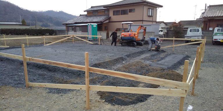佐野市栃本町I様基礎工事着工です。