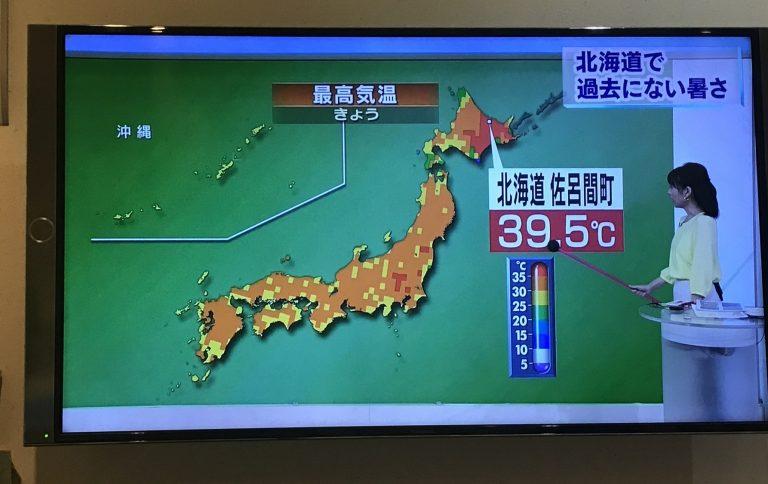 昨日の北海道39.5.℃驚きですね