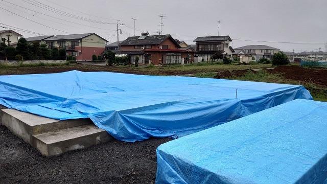 佐野市高萩町O様土台敷が無事完了です。