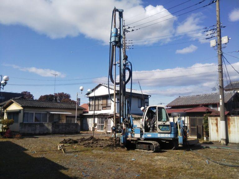 佐野市大祝町K様邸地盤改良工事がはじまりました。