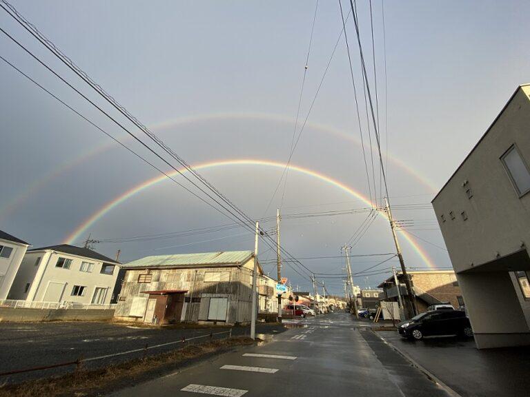 今日は、雨のち虹でしたね!