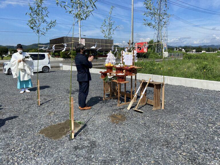 佐野市並木町F様地鎮祭おめでとうございます。